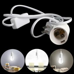 E27 Light Bulb Lamp Socket To US AC Plug Power Cord Adapter