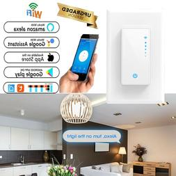 Electrical Smart Light Dimmer Switch Wall-in WiFi Switch Rem