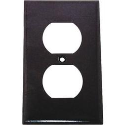 Cooper Electrical Wall Plate, Standard Size Thermoset Duplex
