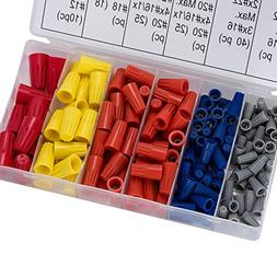 Terrans 158 Pcs Electrical Wire Connectors Screw Terminals,