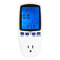 Newforshop Electricity Usage Monitor Power Meter Plug Home E
