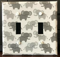ELEPHANTS LIGHT SWITCH COVER PLATES OUTLETS GREY BABY ELEPHA