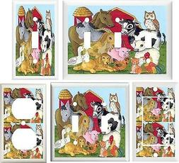 FARM ANIMALS NURSERY DECOR LIGHT SWITCH OR OUTLET COVER V100