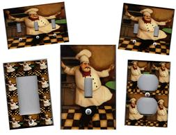 FAT CHEF - FAT CHEF KITCHEN HOME DECOR LIGHT SWITCH PLATES A