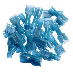 Yueton 100pcs Female Fully Insulated Wire Crimp Terminal Nyl