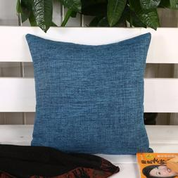 Ling @ Flax Solid Color Throw Pillow Case Creative Individua