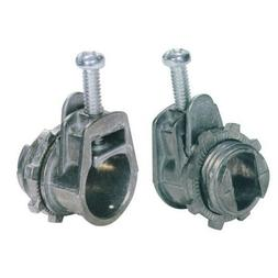 Flex Saddle Box Connector for AC MC & Flex Conduit - Zinc Di