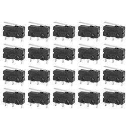 uxcell 20Pcs G605-150S01A SPDT 1NO 1NC Long Hinge Lever Mome