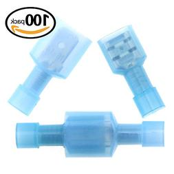 Hilitchi 100pcs 16-14 Gauge Nylon Fully Insulated-Male Spade