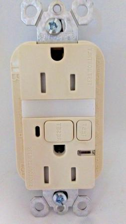 Legrand 15Amp GFCI with Nightlight in Light Almond