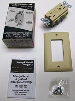Pass & Seymour 15 Amp GFCI Ivory with Wall Plate