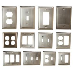 GlideRite Brushed Nickel Light Switch Cover & Duplex Outlet