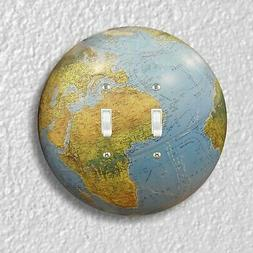 Globe Double Toggle Round Light Switch Plate Cover