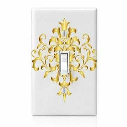 Gold Filigree, Ribbon Light Switch Cover, Outlet, Home Decor