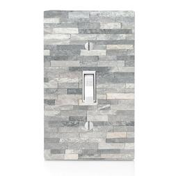 Gray Stackedstone, Alaskan  Light Switch Cover, Home Decor,