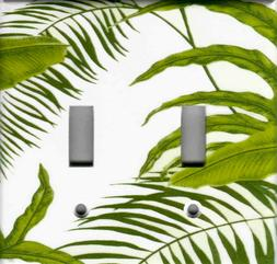 GREEN FERN LEAVES HOME DECOR LIGHT SWITCH PLATES AND OUTLETS