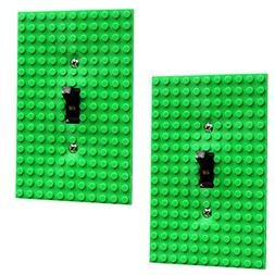 Green Light Switch Cover Building Brick Novelty Light Switch