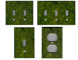 GREEN  MARBLE TILE IMAGE HOME DECOR LIGHT SWITCH PLATES AND