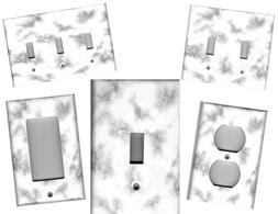 GREY AND WHITE MARBLE IMAGE HOME DECOR LIGHT SWITCH PLATES A