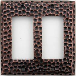 Classic Accents Hammered Antique Copper Wall Plate - 2 Gfi/R