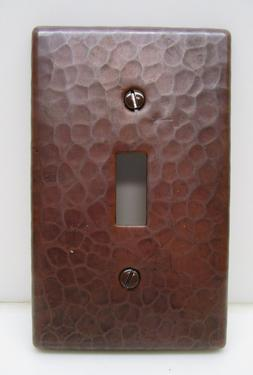 Hammered Copper Switch Plate Cover Single Toggle Arts & Craf