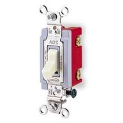Hubbell HBL1223GY 3 Way Toggle, Industrial Grade, 20 amp, 12