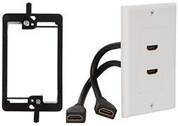 Buyer's Point HDMI Wall Plate  Insert with 6-Inch Built-In F