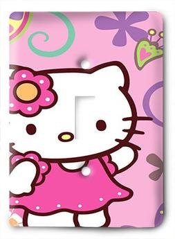 Hello Kitty Pink is the New Black Light Switch