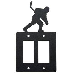 Hockey double rocker  light switch plate cover