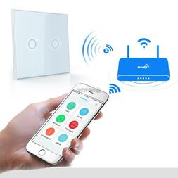 Home Automation Z-Wave 2Gang Wall Light Switch Wireless Remo