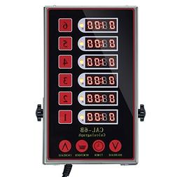 YOOYIST 6 Channels Commercial Timer Cooking Timers Loud Adju
