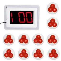 iMeshbean Restaurant Pager System with 999-channel Red LED L