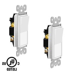 In Wall Decorator ON/OFF Paddle Rocker Light Switch Single P