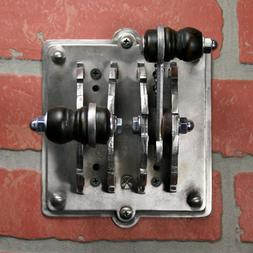 Industrial Laboratory Light Switch Plate - Double Toggle Fra