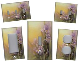 IRIS FLOWER MIST IRIS FLOWER HOME WALL DECOR LIGHT SWITCH PL