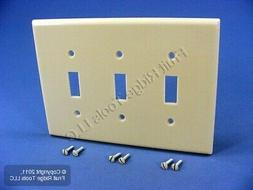 Leviton Ivory 3-Gang LARGE Light Switch Cover Plate Triple S