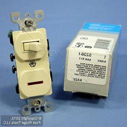 Leviton Ivory Commercial Toggle Wall Switch 15A w/Pilot Ligh