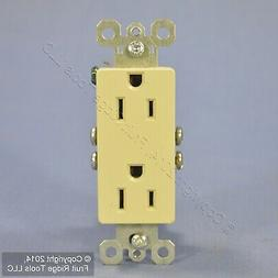 Pass & Seymour Ivory Decorator Receptacle Outlet 15A 885-IU