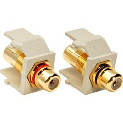 Leviton 40830-I Ivory RCA-110 QuickPort Snap-In Connector