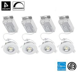 Kitchen Recessed Lighting 3 Inch 8W 750 Lumens IC Rated Gimb