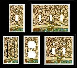 KLIMT TREE of LIFE  LIGHT SWITCH COVER PLATE  OR OUTLET HOME