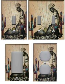 KOKOPELLI WITH CACTUS SOUTHWEST HOME WALL DECOR LIGHT SWITCH