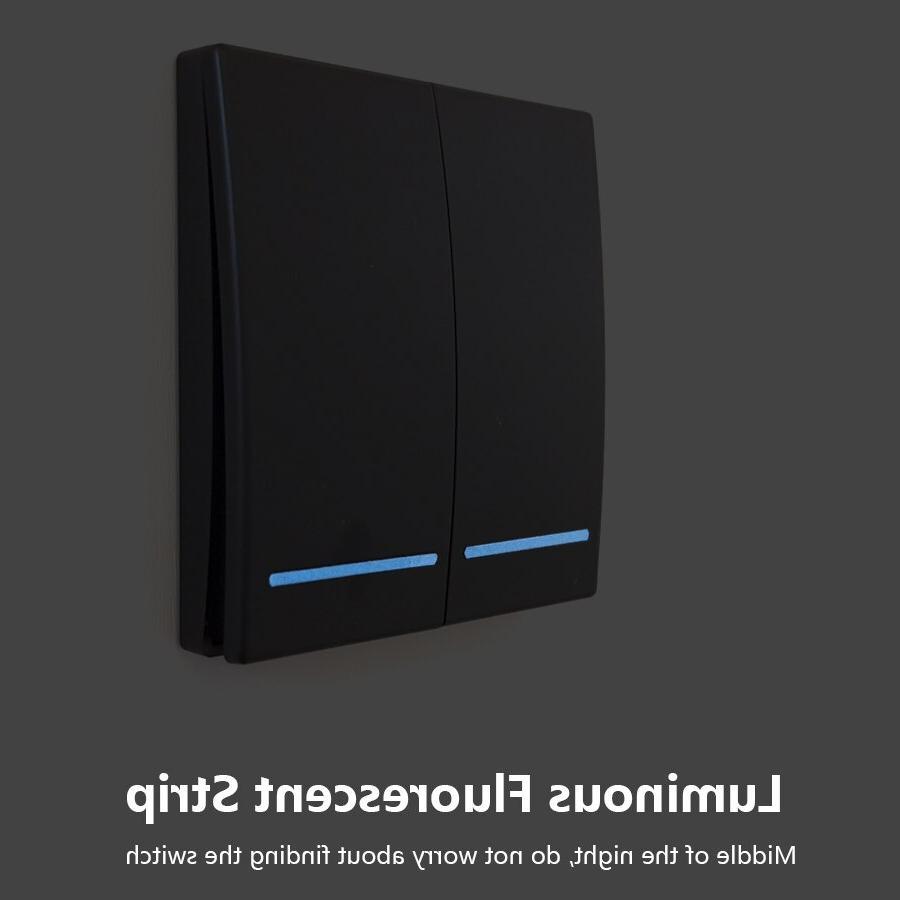 SMATRUL 433Mhz smart push Wireless <font><b>Switch</b></font> <font><b>Light</b></font> Remote 110V 220V Receiver Wall Panel button