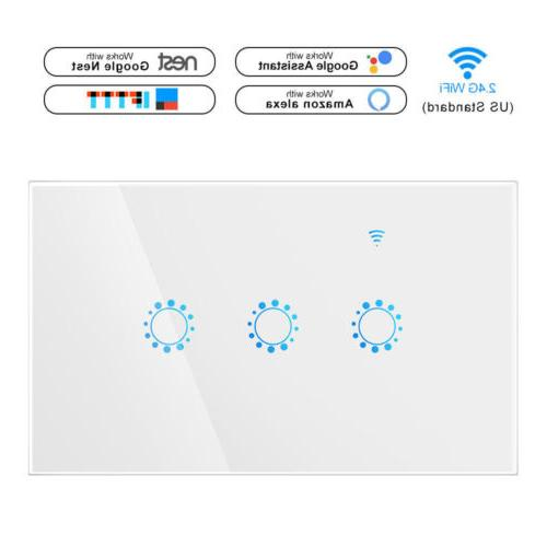 US 1/2/3 Gang Home Wall Switch Alexa APP