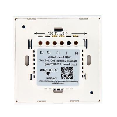 Sonoff 1 2 Gang Smart WiFi Panel Touch Switch Wall Retome Light