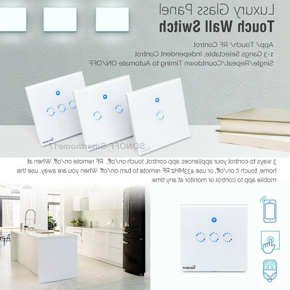 Sonoff 1 Gang Smart WiFi Panel Touch Switch Retome Light