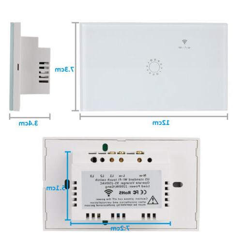 1/2/3 Gang WiFi Touch Switch for Google IFTTT