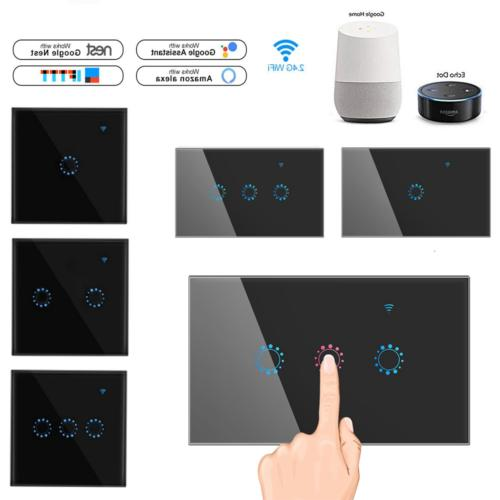 1 2 3 gang wifi smart touch