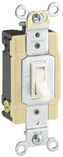 10 New Cooper Wiring Ivory 4-WAY Toggle Wall Light Switches