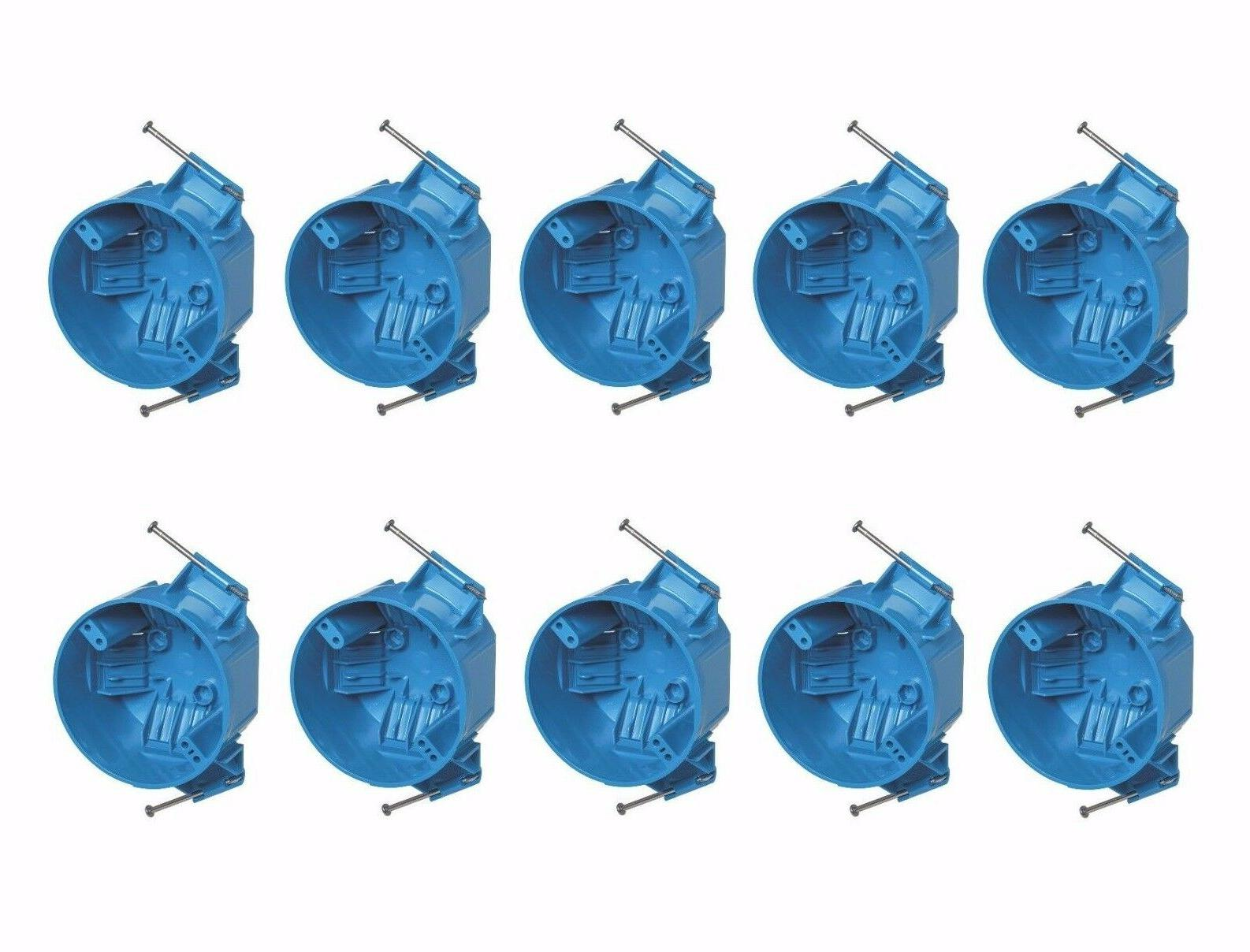 """10-Pce Single-Gang 20"""" Round Ceiling Light Fire New-Work Pla"""